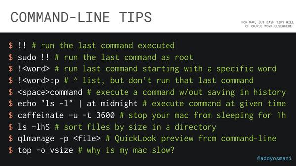 command line pro tips