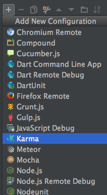 webstorm karma